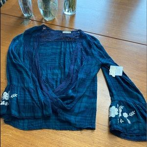 Altar'd state plaid open shirt